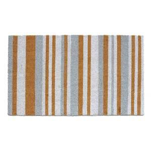 Grey & White Coir Doormat - 45x75cm