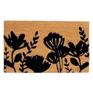 Floral Coir Doormat - 45x75cm