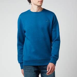 Superdry Men's Orange Label Classic Sweatshirt - Dark Cobalt Marl