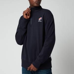 Superdry Men's Sportstyle Essential Half Zip Sweatshirt - Deep Navy