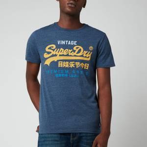 Superdry Men's Vintage Logo Tri Logo T-Shirt - Navy Marl