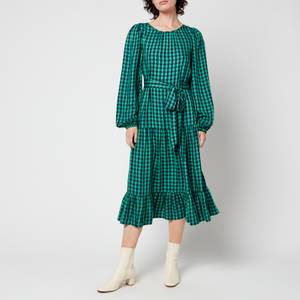 Kitri Women's Alana Check Dress - Green
