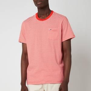 Tommy Jeans Men's Regular Stripe Pocket T-Shirt - Horizon/White
