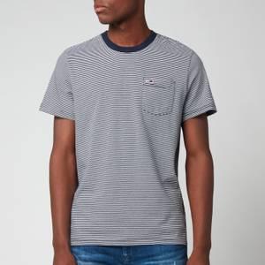 Tommy Jeans Men's Regular Stripe Pocket T-Shirt - Twilight Navy/White