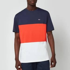 Tommy Jeans Men's Classic Colour Block T-Shirt - Horizon/Multi