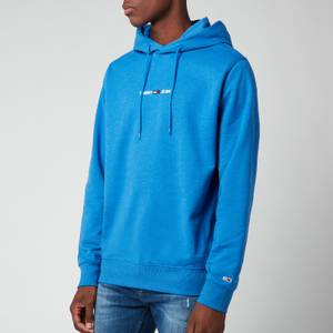 Tommy Jeans Men's Straight Logo Hoodie - Liberty Blue Heather