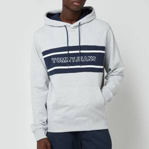 Tommy Jeans Men's Pieced Band Hoodie - Light Grey Hoodie