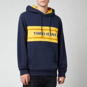 Tommy Jeans Men's Pieced Band Hoodie - Twilight Navy/Multi