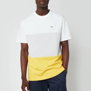 Tommy Jeans Men's Classic Colour Block T-Shirt - Silver Grey Heather/Multi