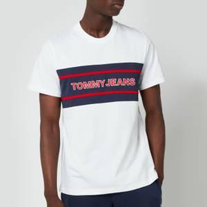 Tommy Jeans Men's Stripe Colour Block T-Shirt - White/Multi