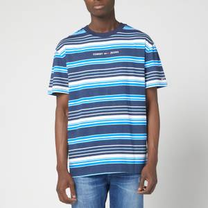 Tommy Jeans Men's Multistripe Layout T-Shirt - Twilight Navy/Multi