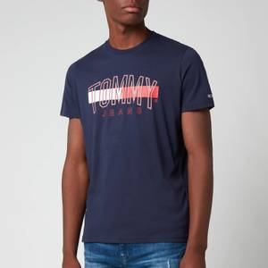Tommy Jeans Men's Flag Tommy T-Shirt - Navy