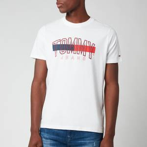 Tommy Jeans Men's Flag Tommy T-Shirt - White