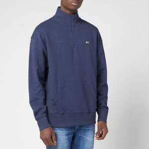 Tommy Jeans Men's Flag Mock Neck Sweatshirt - Twilight Navy
