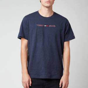 Tommy Jeans Men's 3D Linear Logo T-Shirt - Twilight Navy