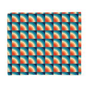 Patterns Retro Square Pattern Fleece Blanket
