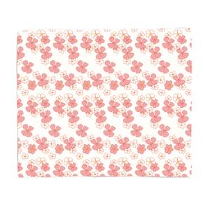 Patterns Retro Flower Fleece Blanket