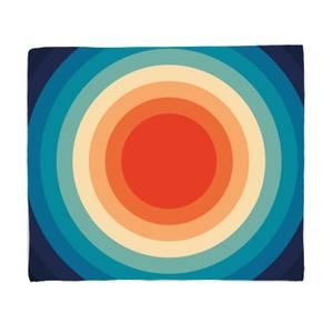 Patterns Retro Circle Motif Fleece Blanket