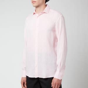 Frescobol Carioca Men's Antonio Linen Long Sleeve Shirt - Light Pink