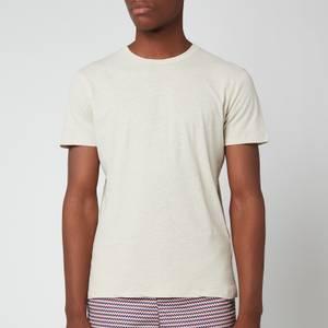 Frescobol Carioca Men's Lucio Linen Blend T-Shirt - Sand Dune