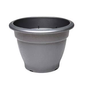 Round Bell Pot in Black - 55cm