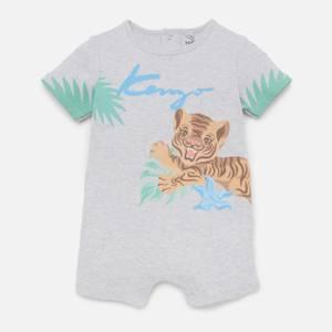KENZO Newborn Lester Romper Suit - Light Marl Grey