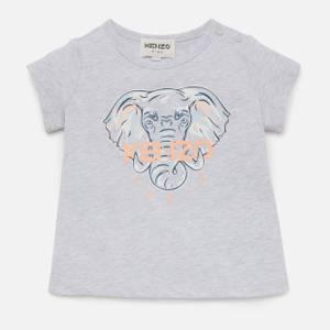 KENZO Toddlers' Elephant T-Shirt - Light Marl Grey