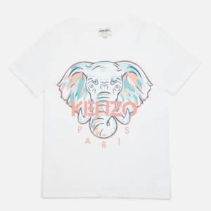 KENZO Girls' Elephant T-Shirt - Optic White