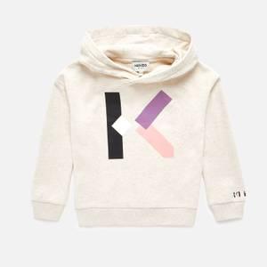 KENZO Girls' Logo Hoodie - Marl Beige