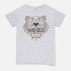 KENZO Boys' Tiger T-Shirt - Light Marl Grey