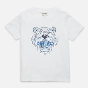 KENZO Boys' Tiger B T-Shirt - Optic White