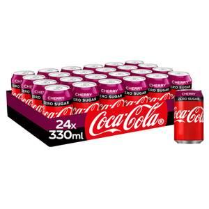 Coca-Cola Zero Sugar Cherry 24 x 330ml