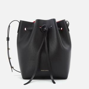 Mansur Gavriel Women's Mini Bucket In Saffiano Bag - Black/Flamma