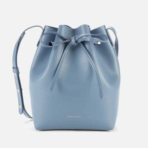 Mansur Gavriel Women's Mini Bucket In Saffiano Bag - Blue