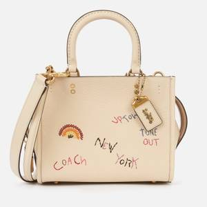 Coach 1941 Women's Embroidered Leather Rogue Bag 25 - Ivory