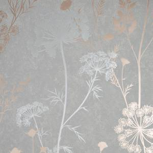 Cow Parsley Grey Rose Gold Wallpaper