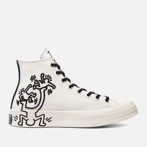 Converse Keith Haring Chuck 70 Hi-Top Trainers - Egret/Black/Red