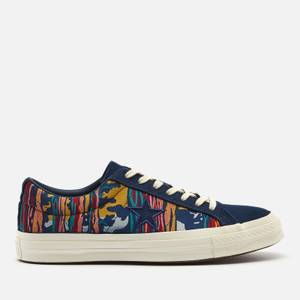 Converse Men's National Parks One Star Ox Trainers - Midnight Navy/Multi/Egret