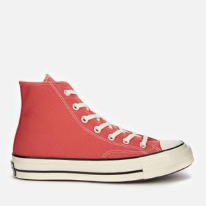 Converse Chuck 70 Recycled Canvas Hi-Top Trainers - Red
