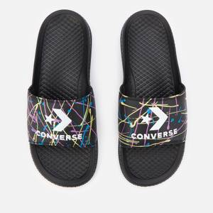 Converse Men's All Star Splatter Print Slide Sandals - Black