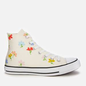 Converse Women's Chuck Taylor All Star Garden Party Print Hi-Top Trainers - White
