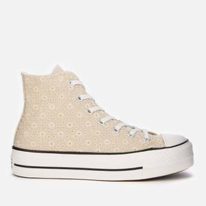 Converse Women's Chuck Taylor All Star Lift Hi-Top Trainers - Farro/Natural Ivory/Vintage White