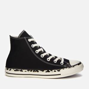 Converse Women's Chuck Taylor All Star Edged Archive Leopard Print Hi-Top Trainers - Black