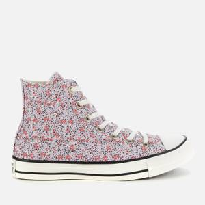 Converse Women's Chuck Taylor All Star Hi-Top Trainers - Vintage White/Pink Foam
