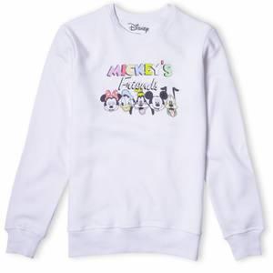 Disney Sweatshirt Mickey Et Amis - Blanc