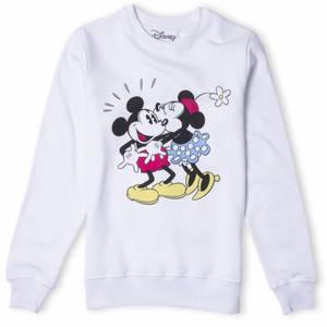 Disney Sweatshirt Baiser Minnie et Mickey - Blanc