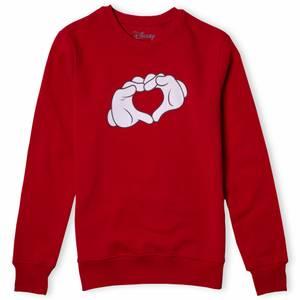 Disney Sweatshirt Coeur Mains Mickey - Rouge