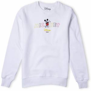 Disney Sweatshirt Mots Mickey - Blanc