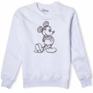 Disney Sweatshirt Dessin Mickey - Blanc