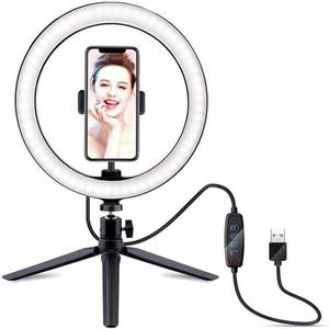 LED Ring Light 26cm with Tabletop Tripod